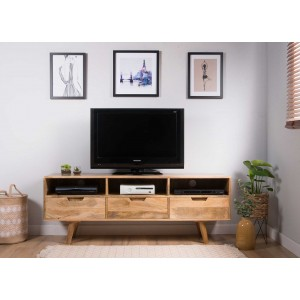 Oslo Light Mango Wide Media Unit