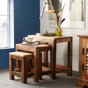 Reclaimed Indian Trio Table Nest