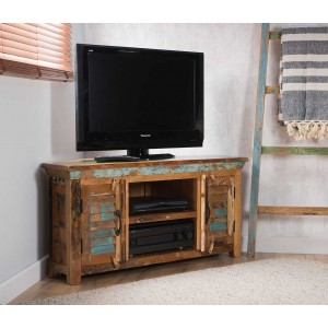 Reclaimed Indian Large Corner TV Unit