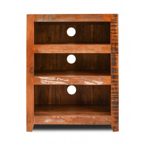 Reclaimed Indian Low Hi-Fi Shelving Unit