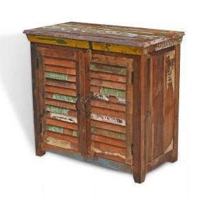 Reclaimed Wooden Small 2-Door Sideboard