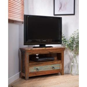 Reclaimed Indian Small Corner TV Unit
