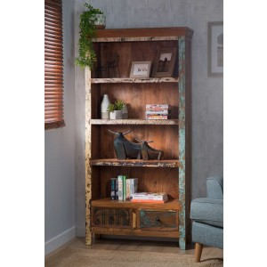 Reclaimed Indian Tall Bookcase