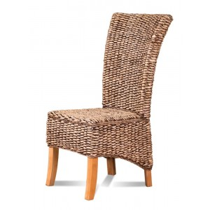 Banana Leaf Rattan Dining Chair - Light Leg 1