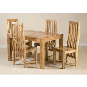 Dakota Light Mango 4-Seater Dining Set