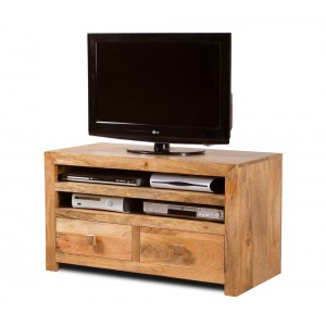 Dakota Light Mango Medium 2-Drawer TV Unit
