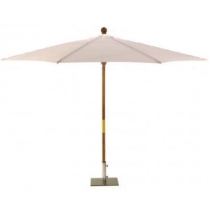 Sturdi 3m Wooden Parasol - Natural 1