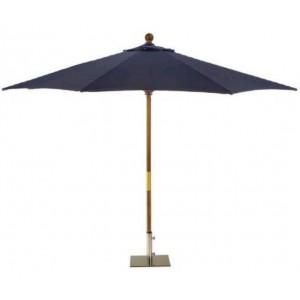 Sturdi 2m Wooden Parasol - Navy Blue 1
