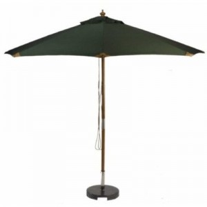 Sturdi PLUS 3m FSC Wood Parasol - Green 1