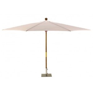 Sturdi PLUS 3x2m FSC Wooden Parasol - Natural 1