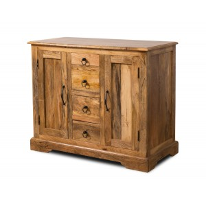 Tenali Light Mango Small 4-Drawer Sideboard