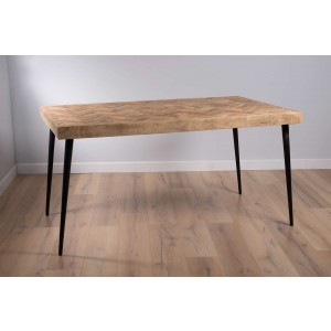 Urban Industrial Mango Dining Table