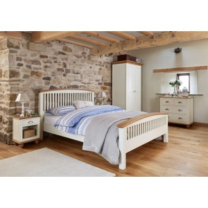 Vermont Painted Oak Double Bed 1