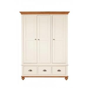 Vermont Painted Oak Triple Wardrobe 1