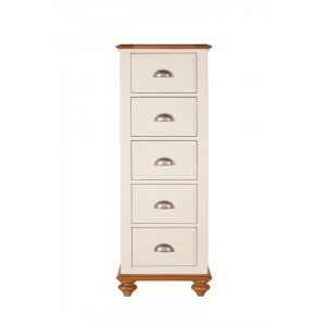 Vermont Painted Oak 5 Drawer Tall Chest 1