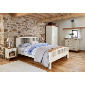 Vermont Painted Oak King Size Bed 1