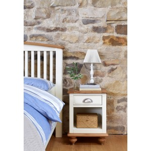 Vermont Painted Oak 1 Drawer Bedside Table 1