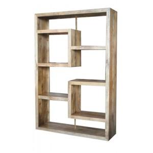 Soho Light Mango Tall Open Straight Geometric Bookcase/Shelving Unit