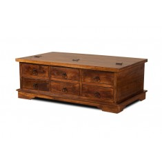 Tenali Mango Large Rectangular Trunk With Drawers