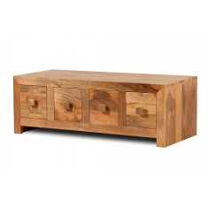 Dakota Light Mango 8-Drawer Coffee Table