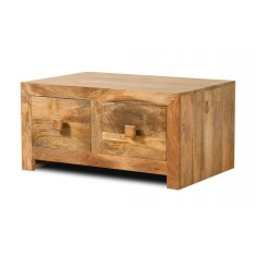 Dakota Light Mango Small 4-Drawer Coffee Table