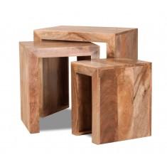 Dakota Light Mango Trio Table Nest