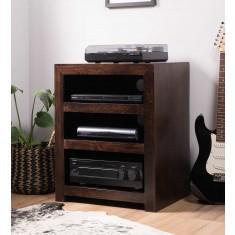 Dakota Dark Mango Low Hi-Fi Shelving Unit