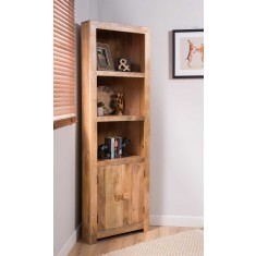 Dakota Light Mango Corner Bookcase