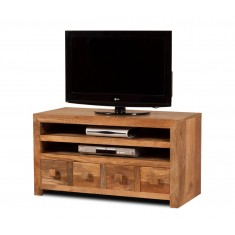 Dakota Light Mango Large 4 Drawer TV Unit