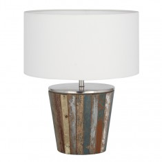 Reclaimed Wood Tapered Lamp Complete