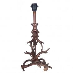 Antique Copper Antler Table Lamp