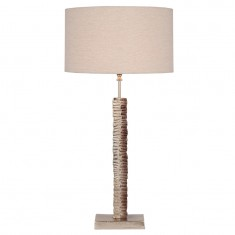 Tall Champagne Sculptural Metal Table Lamp