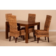 Catalina Rattan 4 Seater Dining Set - Dakota Table