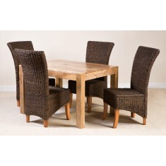 Kubu Rattan 6 Seater Light Mango Dining Set