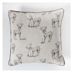 All Over Stag Cushion Natural