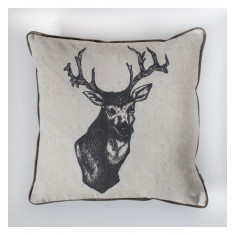 Ink Stag Cushion Natural