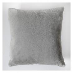 Faux Rabbit Double Sided Cushion Grey