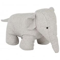 Light Grey Fabric Elephant Doorstop