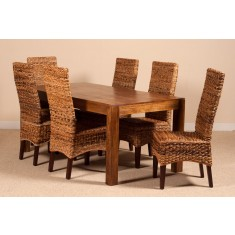 Catalina Rattan 6 Seater Dining Set - Dakota Table