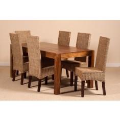 Ibis Rattan 6 Seater Dining Set - Dakota Table
