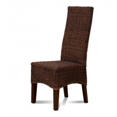 Antonio Rattan Dining Chair - Dark Leg