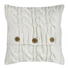 Ivory Cable Knit Cushion