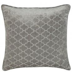 Soft Grey Marrakech Chenille Cushion