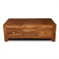 Cuba Sheesham 3-Drawer Coffee Table