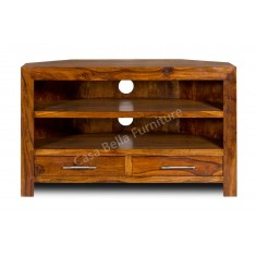 Cuba Sheesham Corner TV Unit
