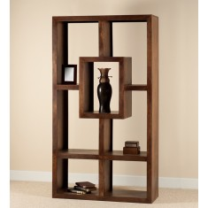 Soho Dark Mango Tall Open Bookcase/Shelving Unit