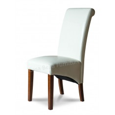 Verona Ivory Leather Dining Chair