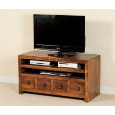 Dakota Mango Large 4 Drawer TV Unit