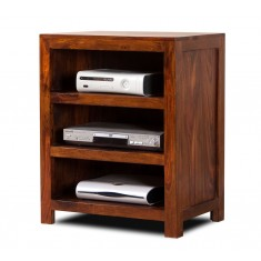 Mandir Sheesham Low Hi-Fi Shelving Unit