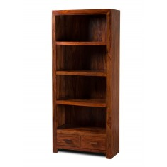 Mandir Sheesham Tall 2 Drawer Bookcase